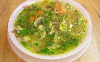 Ароматный суп из сушеных грибов и картофеля