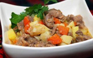 Картошка тушёная с мясом: рецепты вкусной еды
