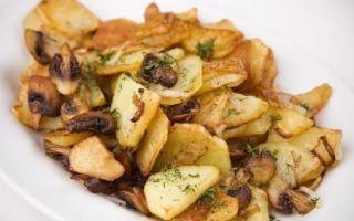 Шампиньоны в жареной картошке