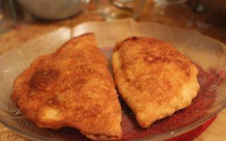 Рецепты чебуреки с картошкой