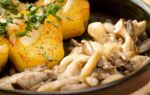 Жарим вешенки с картофелем и луком