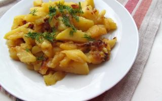 Пожарить картофель в растительном масле