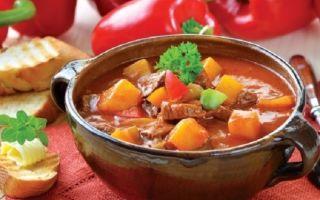 Готовим картофельный суп с мясом