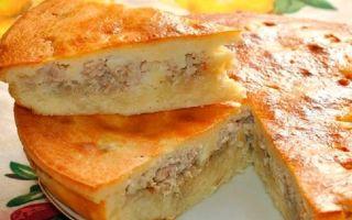 Готовим пирог с картошкой и сайрой