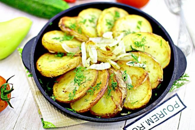 картошка с чесноком