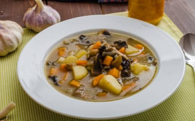 суп - пюре из шампиньонов с картофелем