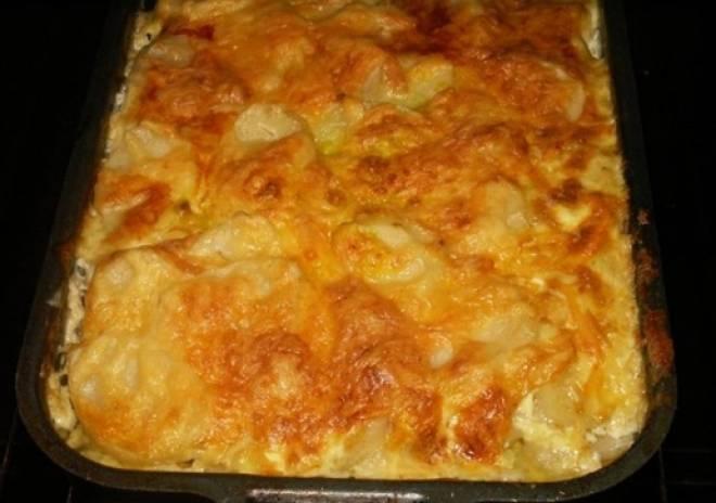 картофель с кефиром в духовке