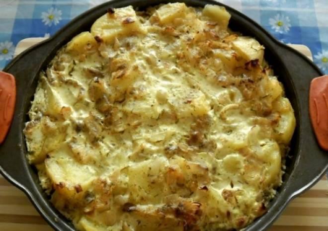 картофель с молоком в духовке