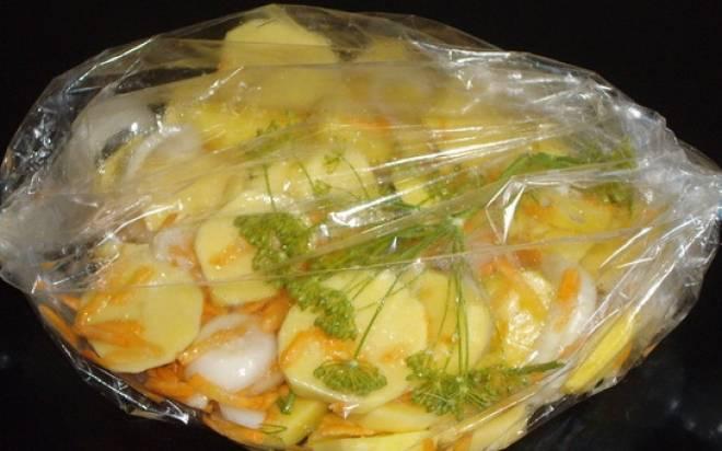 картофель в рукаве для запекания