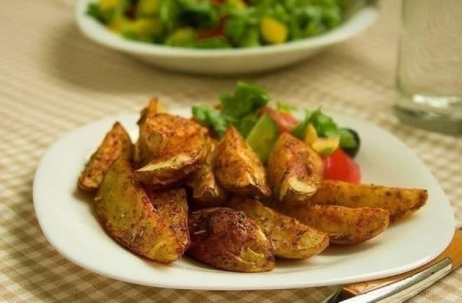 пряная картошка с корочкой