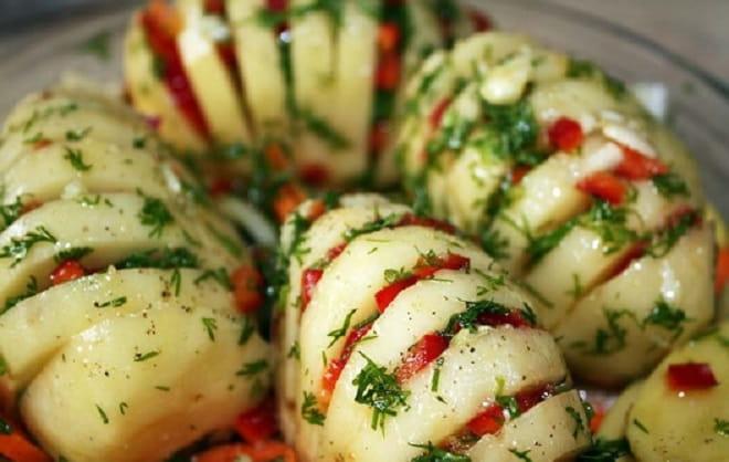 картошка вареная с начинкой