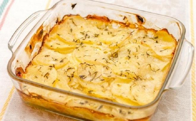 картошка запеченная в сметане