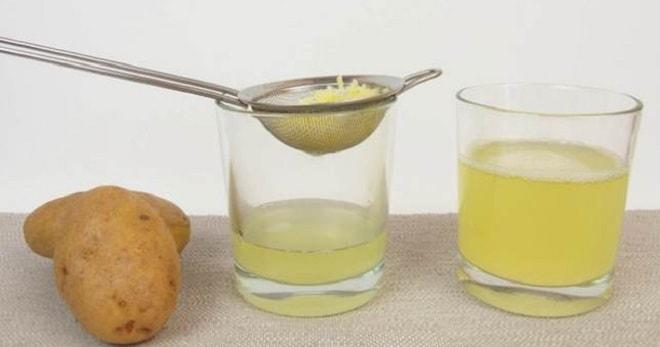 процеживаем сок картофеля