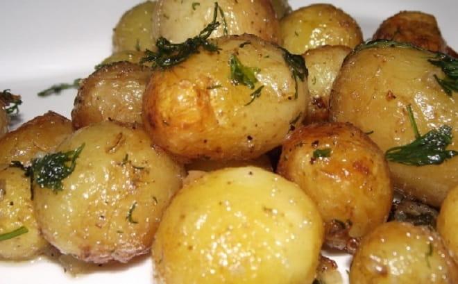 вареножаренная картошка