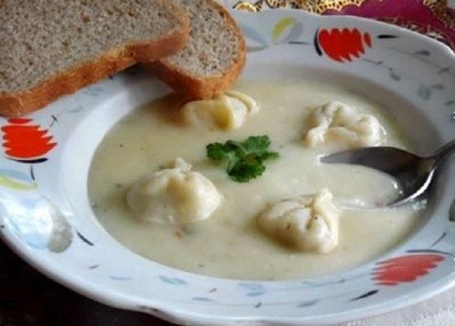 суп-пюре с пельменями
