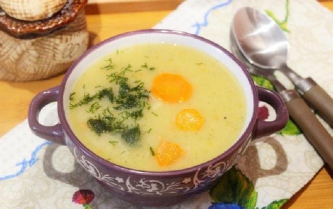 суп-пюре с яйцом