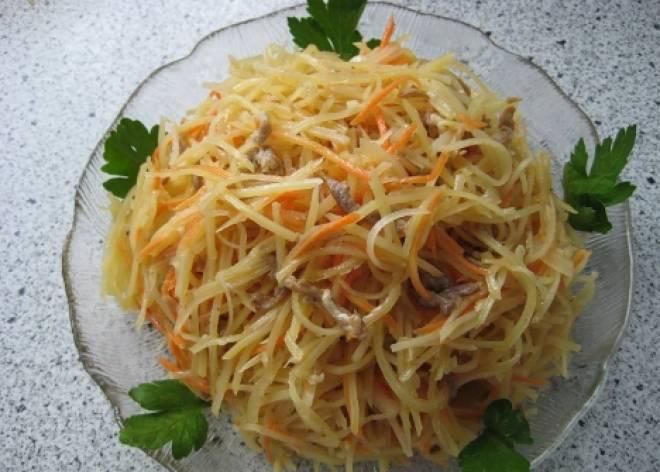 картофельный салат по корейски