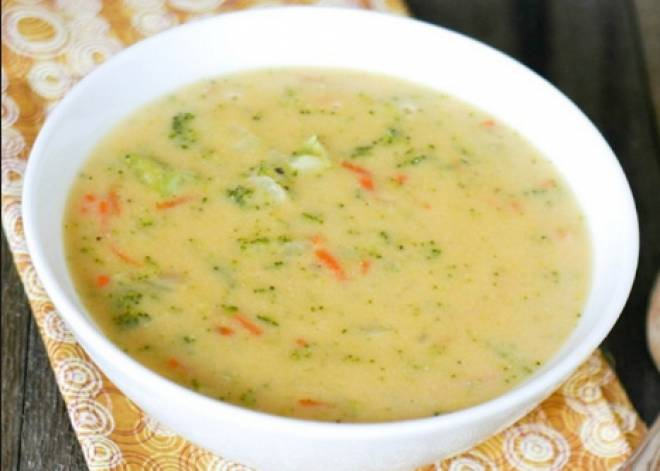 суп с рисом и картошкой сырный