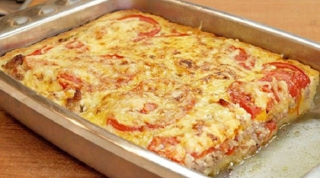 пирог с мясом в картофельном тесте