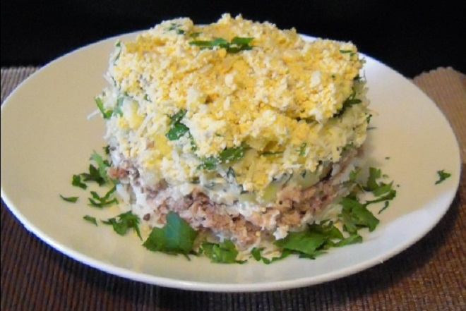 салат мимоза с картофелем
