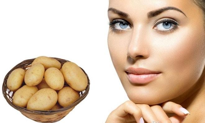 Маска из сырого картофеля