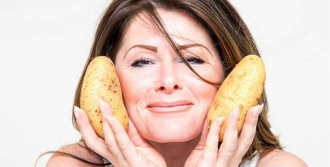 маска из свежего картофеля