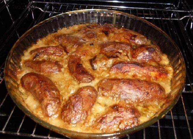 запеченный картофель в грибном соусе